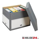 Archiv-Transport-Container,Stülpdeckel- HILDE24 Verpackungen