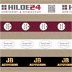 Bedrucktes Klebeband in weiß/braun/transparent mit ein- oder zweifarbigem Positivdruck - HILDE24 Verpackungen