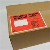Begleitpapiertaschen Lieferscheintaschen DIN C5 mit Druck -Lieferschein/Rechnung- HILDE24 Verpackungen