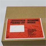 Begleitpapiertaschen Lieferscheintaschen DIN C6 mit Druck -Lieferschein-Rechnung- HILDE24 Verpackungen