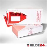 Begleitpapiertaschen Lieferscheintaschen Lang-DIN im Spendekarton | HILDE24 GmbH