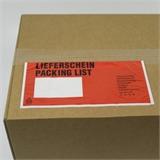 Begleitpapiertaschen Lieferscheintaschen Lang-DIN mit Druck -Lieferschein- HILDE24 Verpackungen