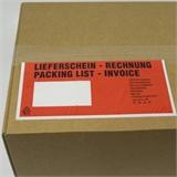 Begleitpapiertaschen Lieferscheintaschen Lang-DIN mit Druck -Lieferschein/Rechnung- HILDE24 Verpackungen