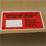 Begleitpapiertaschen Lieferscheintaschen Lang-DIN mit Druck -Lieferschein-Rechnung- HILDE24 Verpackungen