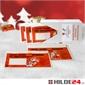 Begleitpapiertaschen Weihnachtsmotive im Spenderkarton