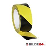 Bodenmarkierungsband, gelb/schwarz schraffiert, 50 mm x 33 lfm | HILDE24 GmbH