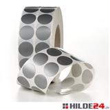 Gewebeklebepunkte / Markierungspunkte silber   HILDE24 GmbH