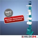 Hygienesäule - überall flexibel einsetzbar  | HILDE24 GmbH