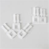 Kunststoffschnallen für PP-Umreifungsband, weiß, für 13 mm und 16 mm Bandbreite