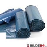 Müllsäcke, 120 Liter, verschiedene Stärken, blau | HILDE24 GmbH