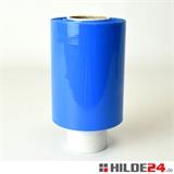 Ministretchfolie, 23 my, 100 mm x 150 lfm, blau-opak - HILDE24 Verpackungen