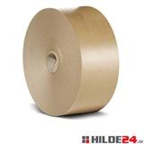 Nassklebeband, braun, 60 g/m², Rolle: 70 mm x 200 lfm, mit Hülse | HILDE24 GmbH