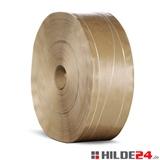 Nassklebeband verstärkt mit 2 Längsfäden und 1 Sinusfaden, 70 g/m², 70 mm x 200 lfm | HILDE24 GmbH