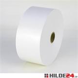 Nassklebeband, weiß, 60 g/m², Rolle: 60 mm x 200 lfm, mit Hülse | HILDE24 GmbH