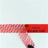 PET-Sicherheitsklebeband mit Aufdruck Security Tape, rot, 50 mm x 50 lfm | HILDE24 GmbH