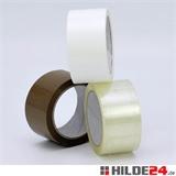 PP-Klebeband low noise - braun, transparent, weiß - 50 mm x 66 lfm