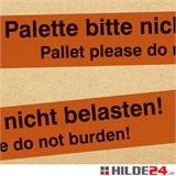 PP-Warnkleband -Palette nicht belasten!-, low noise, 50 mm x 66 lfm
