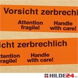 PP-Warnklebeband -Vorsicht zerbrechlich-, low noise, 50 x 66 lfm