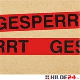 PVC Warnklebeband -GESPERRT- HILDE24 Verpackungen