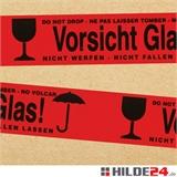 PVC Warnklebeband -Vorsicht Glas- mehrsprachig - HILDE24 Verpackungen