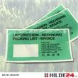 Papier-Begleitpapiertaschenn, Lang-DIN, mit grüner Fläche und Fenster links - HILDE24 Verpackungen