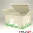 Versandkartons aus Gras mit Ostermotiv | HILDE24 GmbH