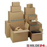 Versandkartons mit halbautomatischen Boden, höhenvariabel, aus 1 oder 2-welliger stabiler Wellpappe - HILDE24 Verpackungen
