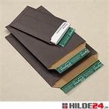 Versandtasche aus Vollpappe, schwarz | HILDE24 GmbH
