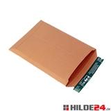 Versandtasche aus stabiler Vollpappe, braun - HILDE24 Verpackungen