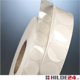 Verschlußmarken Klebepunkte selbstklebend transparent - HILDE24 Verpackungen