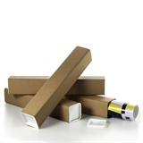 Vierkant-Versandhülsen mit Deckel und Boden - HILDE24 Verpackungen