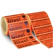 Warnetiketten -Vorsicht Glas- und -Bruchgefahr-