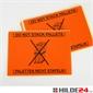Warnetiketten 148 x 210 mm orange mit schwarzem Druck Palette nicht stapeln  - HILDE24 Verpackungen