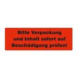 Warnetiketten selbstklebend - Bitte Verpackung und Inhalt sofort auf Beschädigung prüfen! - HILDE24 Verpackungen