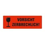 Warnetiketten selbstklebend - Vorsicht zerbrechlich! und Symbol Kelch - HILDE24 Verpackungen