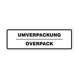 Warnetiketten selbstklebend - weiß mit schwarzem Druck Umverpackung-Overpack - HILDE24 Verpackungen
