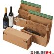 Weinbox Multi Premium zum Versenden von Bordeauxflaschen und Schlegelflaschen (je 0,75l) - HILDE24 Verpackungen