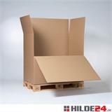Wellpapp-Container 1180 x 780 x 1070 mm mit 1 Ladeklappe | HILDE24 GmbH