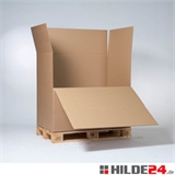 Wellpapp-Container 1180 x 780 x 1070 mm mit 1 Ladeklappe | HILDE24 GmbH